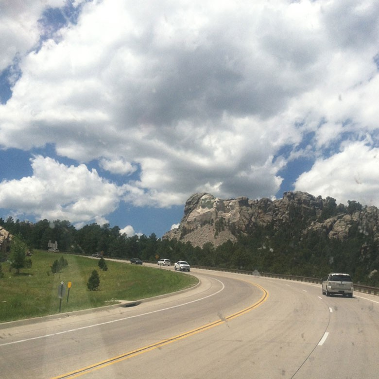 Mt Rushmore from the highway