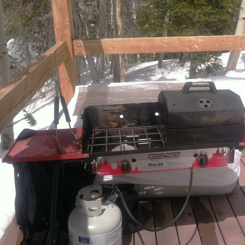 Propane CampChef Grill at Yurt